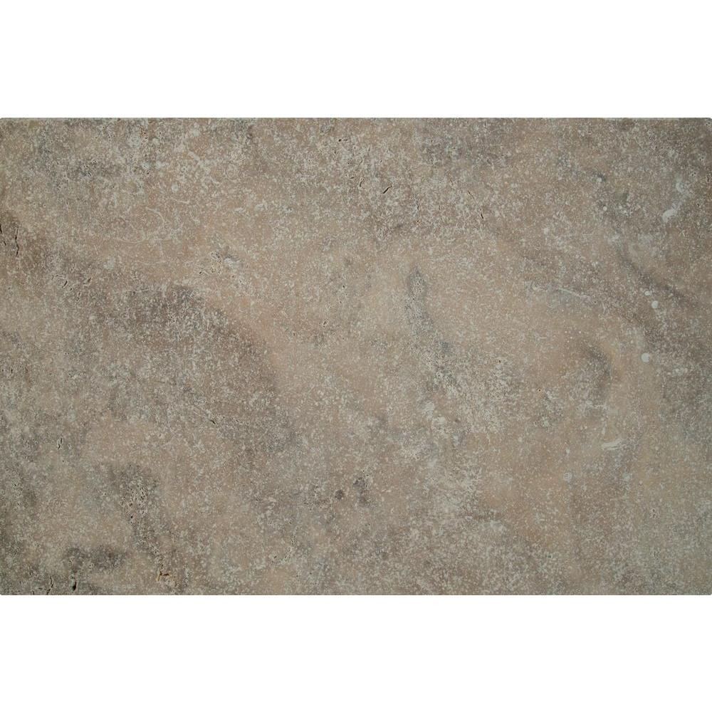 Msi Silver 16 In X 24 Tumbled Travertine Paver Tile 15 Pieces