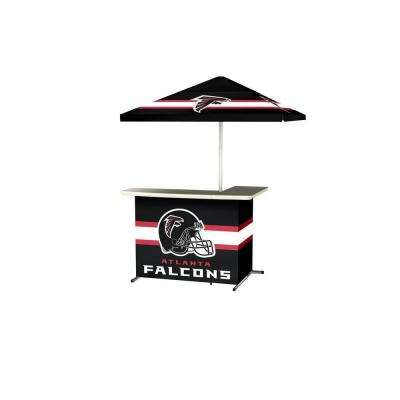 Atlanta Falcons All-Weather L-Shaped Patio Bar with 6 ft. Umbrella