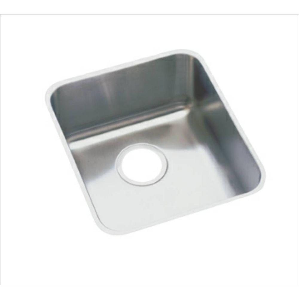 Elkay Lustertone Undermount Stainless Steel 16 In. Single Bowl Kitchen Sink ELUH1316    The Home Depot