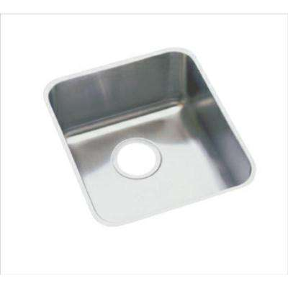 Lustertone Undermount Stainless Steel 16 in. Single Bowl Kitchen Sink