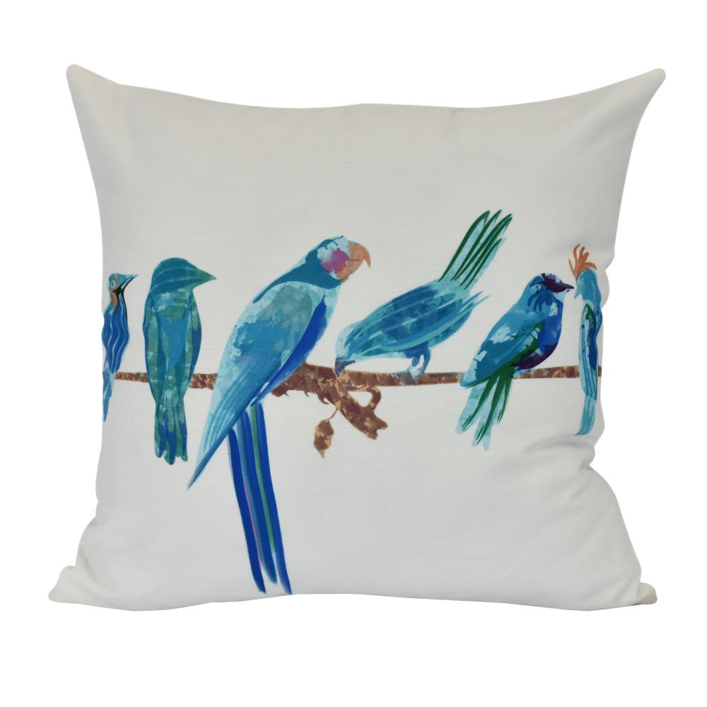 16 in. Morning Birds, Animal Print Decorative Pillow