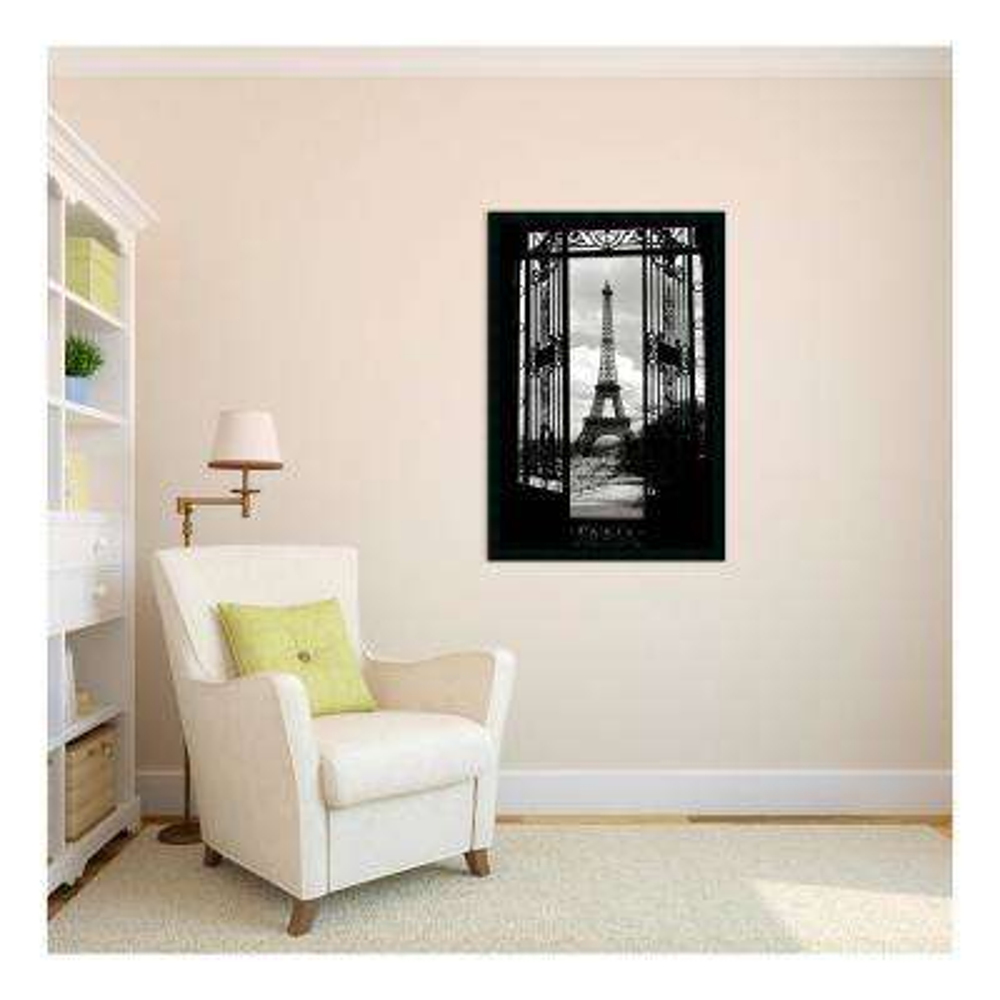 26 in. H x 38 in. W Eiffel Tower 1909 Framed Art Print