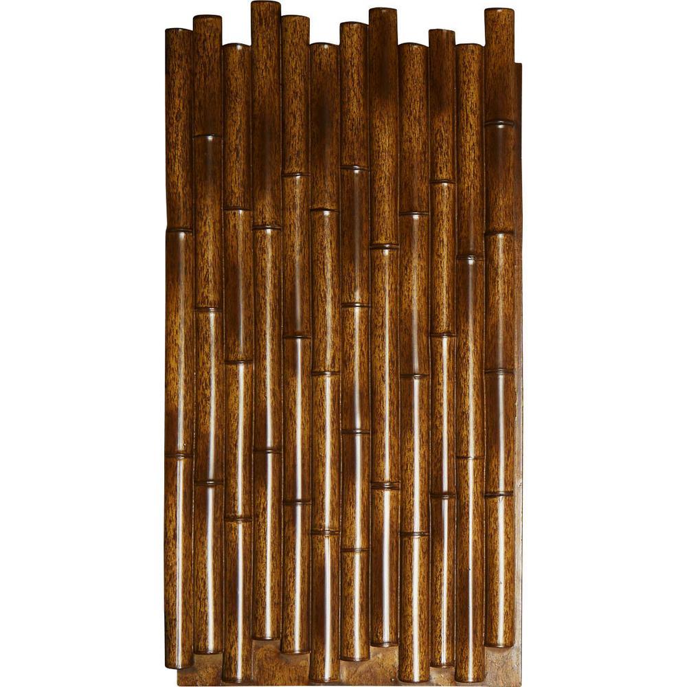 Burned Urethane Bamboo Pole Wall Panel