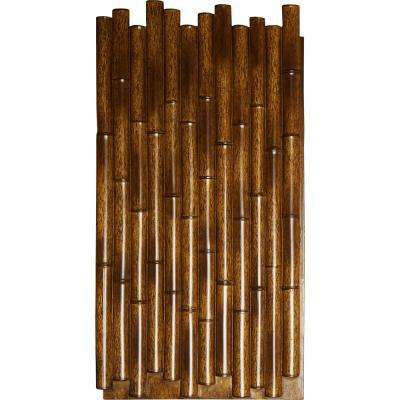 1-3/8 in. x 24-1/2 in. x 49-7/8 in. Burned Urethane Bamboo Pole Wall Panel