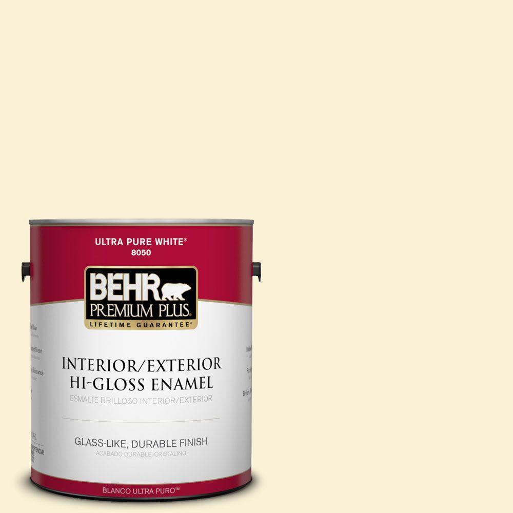 1-gal. #390C-1 Capri Cream Hi-Gloss Enamel Interior/Exterior Paint