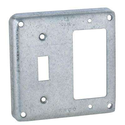 4 in. Square Extra Capacity Exposed Wok Cover for 1-GFCI and 1-Toggle Switch (10-Pack)