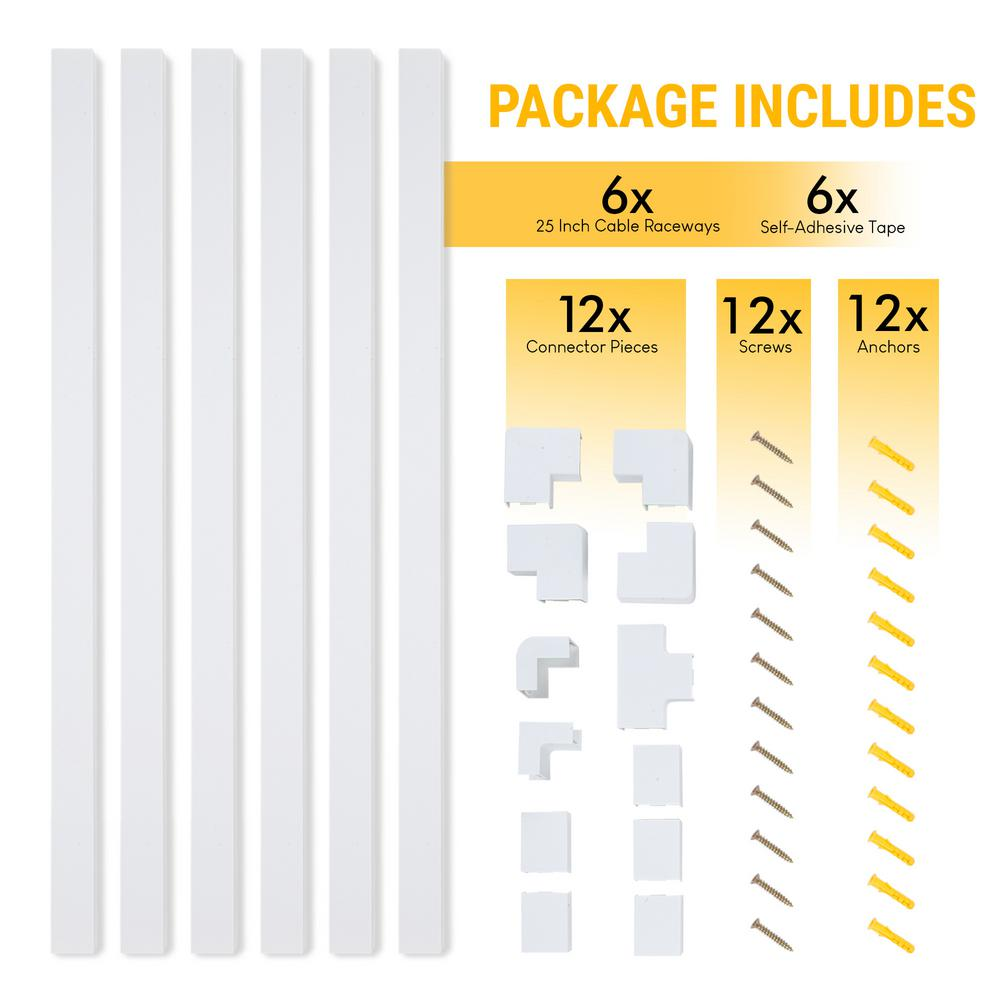 Home & Garden Cable Ties & Organizers mediatime.sn CABLE COVER ...