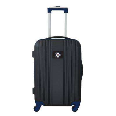 NHL Winnipeg Jets 21 in. Navy Hardcase 2-Tone Luggage Carry-On Spinner Suitcase