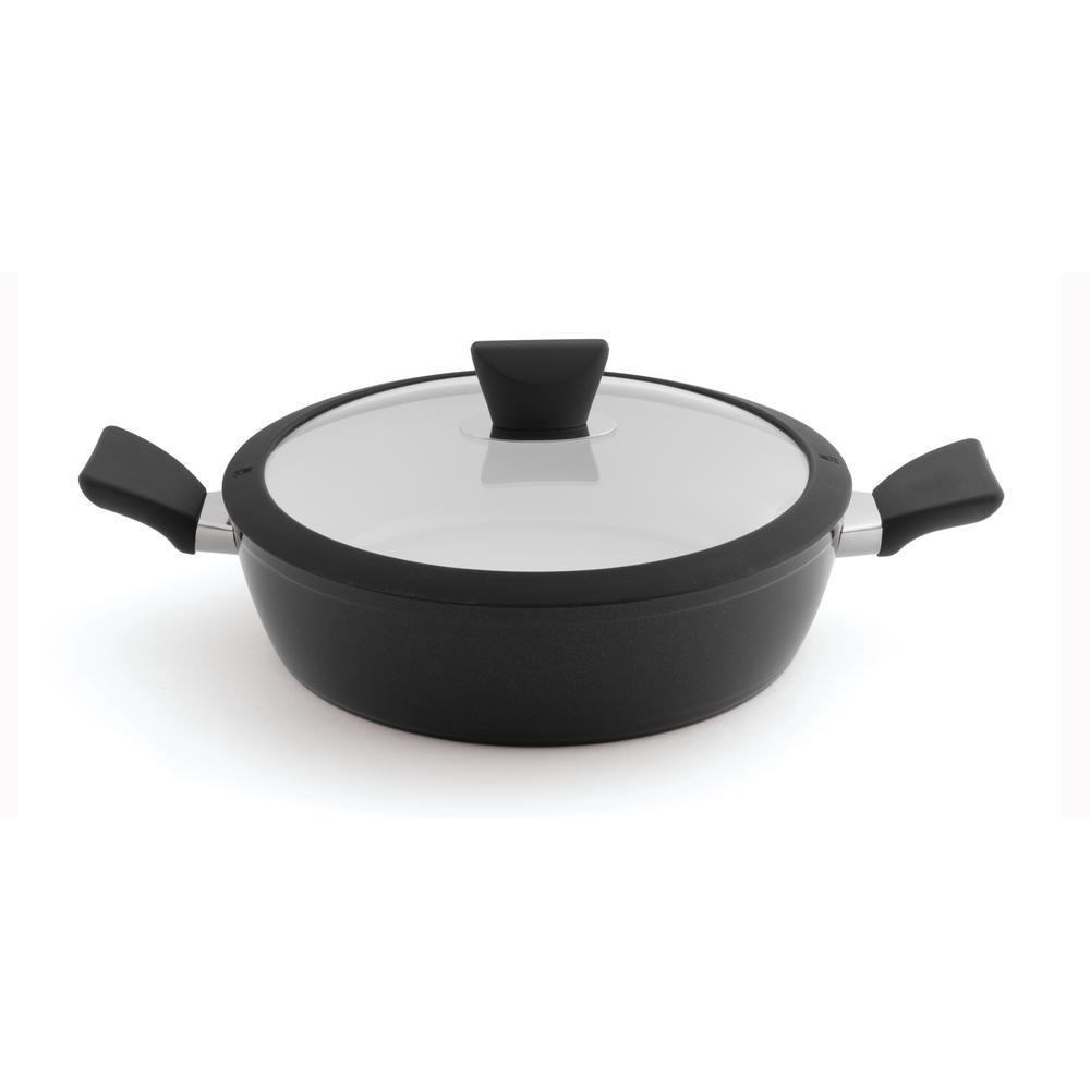 Essentials 3.5 Qt. Aluminum Non-Stick Covered Saute Pan
