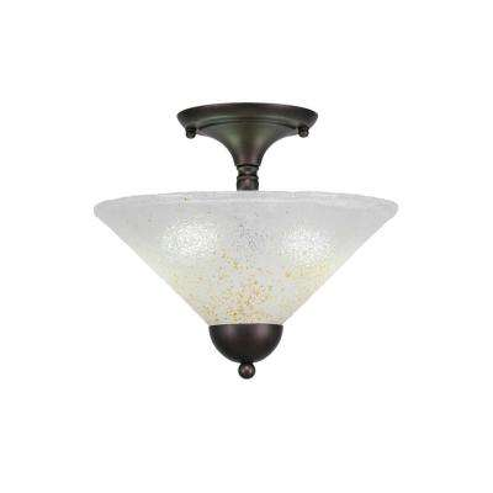 2-Light Bronze Semi-Flush Mount