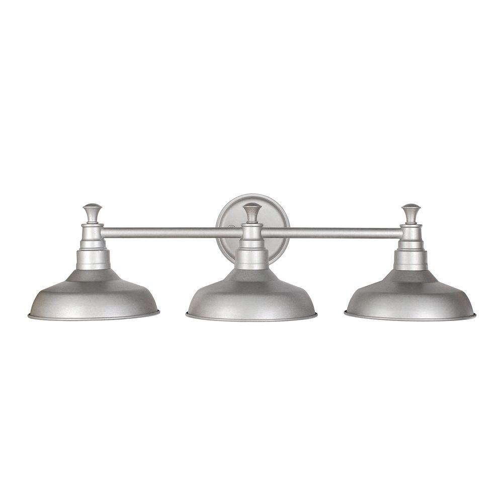 Design House Kimball 3 Light Galvanized Steel Indoor Vanity Light