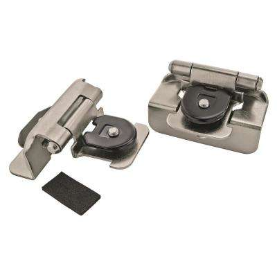 Half Overlay Satin Nickel Double Demountable Hinge (2-Pack)