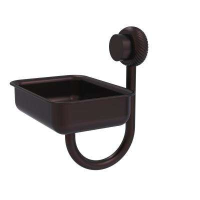 Venus Collection Wall Mounted Soap Dish with Twisted Accents in Antique Bronze