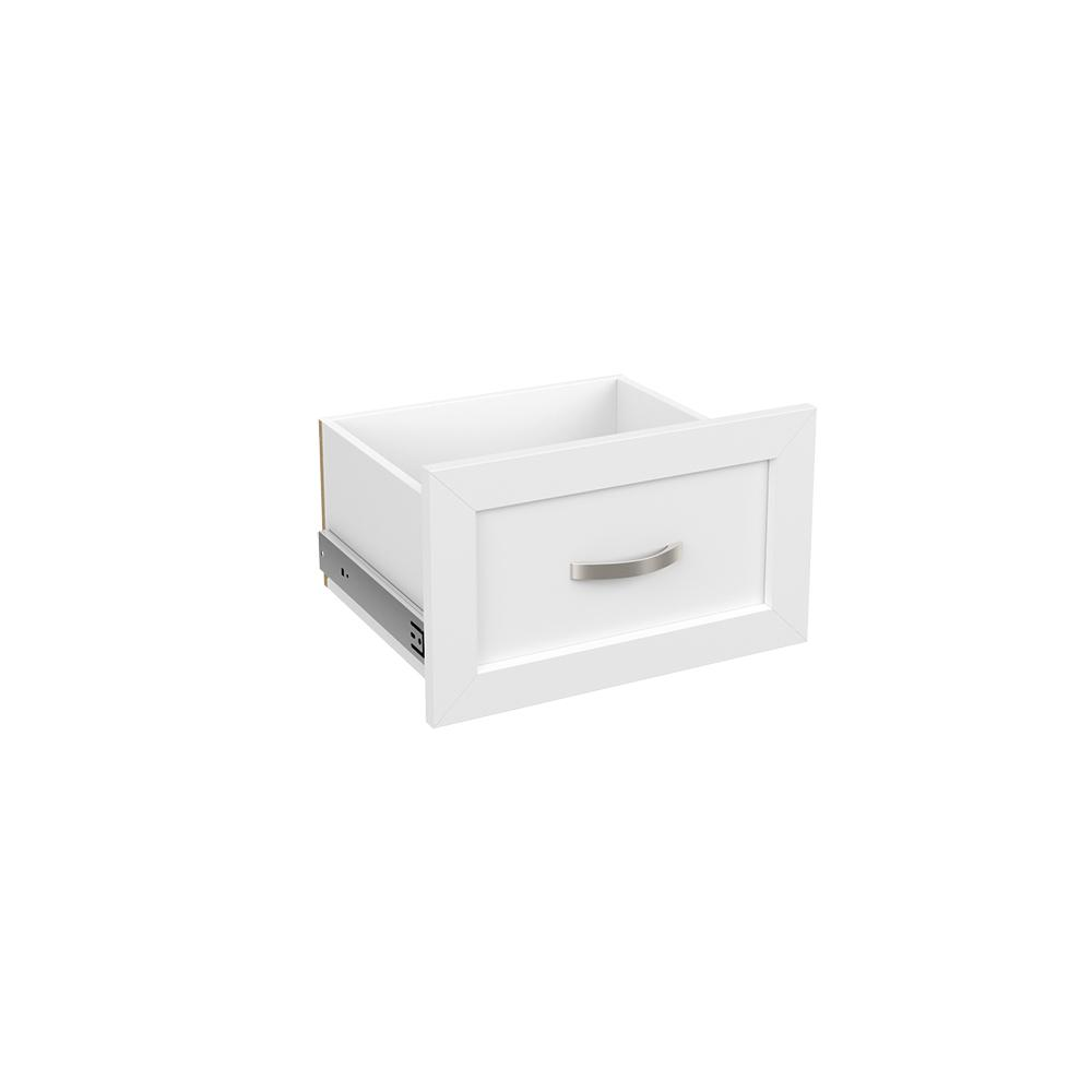Style+ 10 in. H x 17 in. W White Melamine Shaker Drawer Kit for 17 in. W Tower