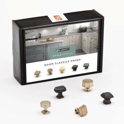Warm Classics Cabinet Knob Sample Box (5-Pack)
