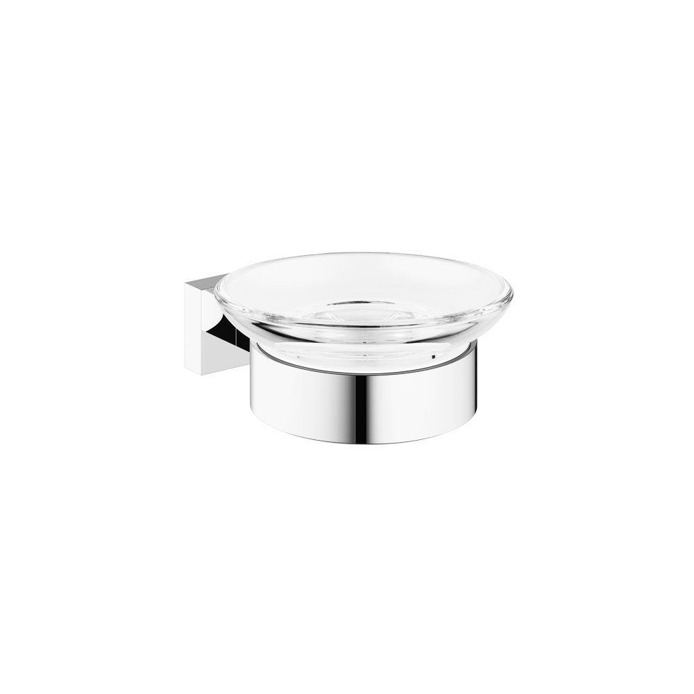 Essentials Cube Wall-Mounted Soap Dish with Holder in StarLight Chrome