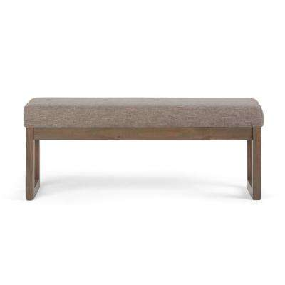 Milltown Fawn Brown Large Ottoman Bench