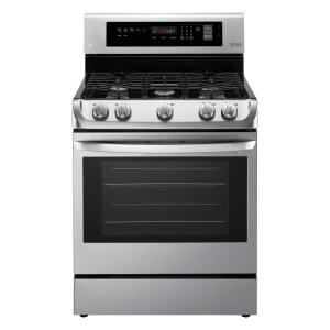 Click here to buy LG Electronics 6.3 cu. ft. Gas Range with ProBake Convection Oven and EasyClean in Stainless Steel by LG Electronics.