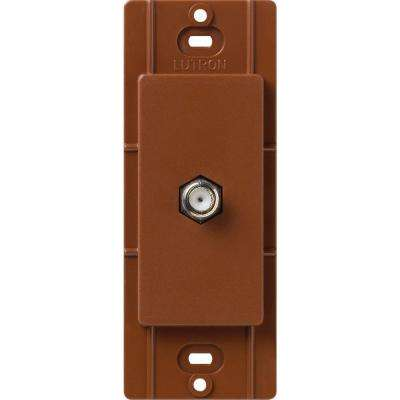 Satin Colors Coaxial Cable Jack - Sienna