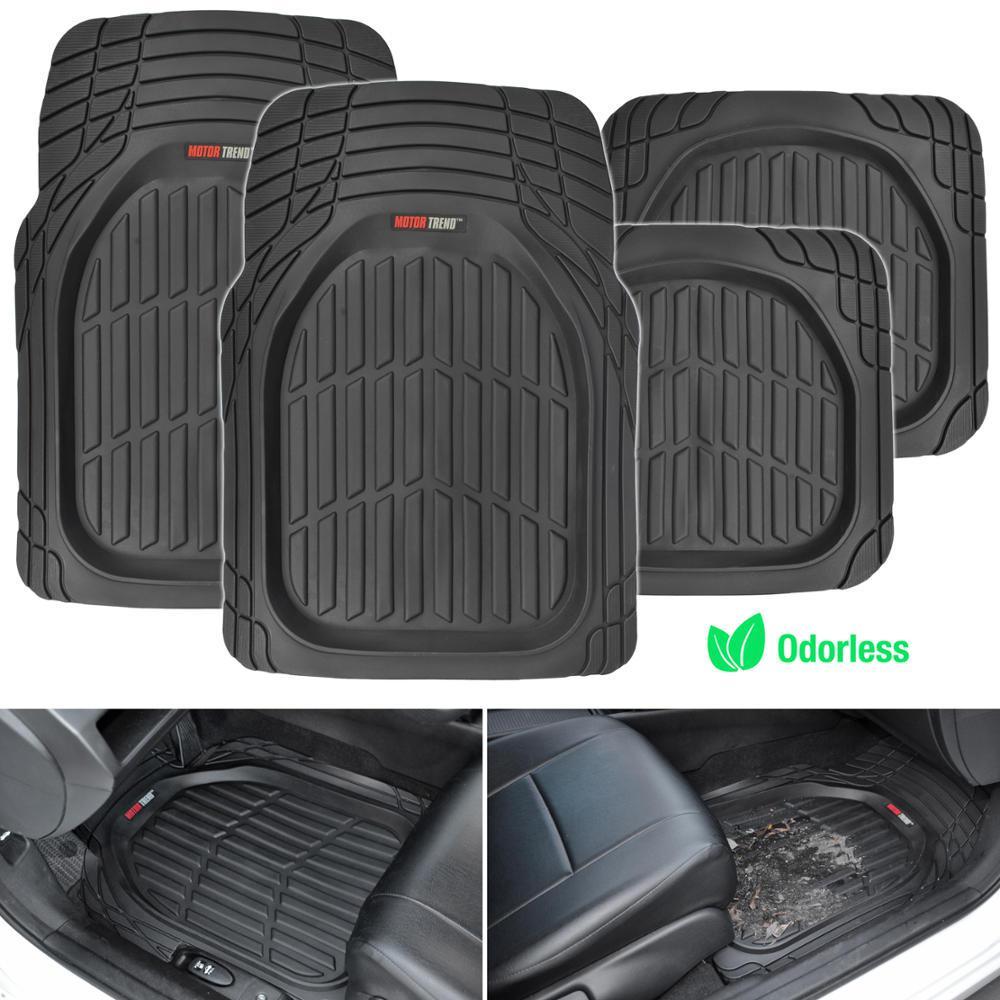 Motor trend deep dish mt 921 black heavy duty 4 piece all for Motor trend floor mats review