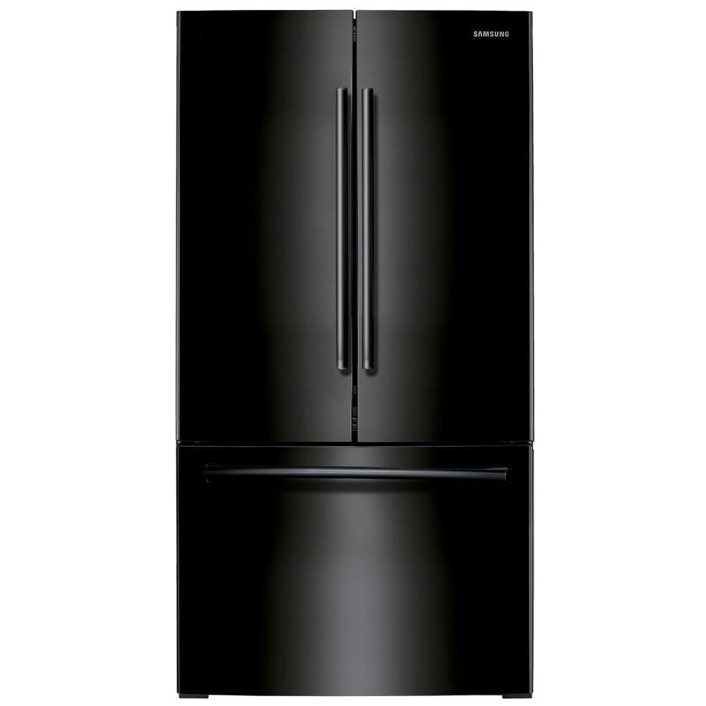 Samsung French Door Refrigerator Temperature Settings: Samsung 25.5 Cu. Ft. French Door Refrigerator In Black