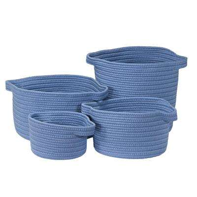 Santorini Frost Polypropylene Storage (Set of 3)