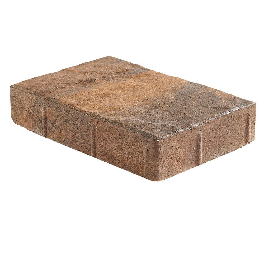 Taverna Rec 11.81 in. L x 7.87 in. W x 1.97 in. H Walnut Blend Concrete Paver (192-Pieces/ 124 sq. ft./ Pallet)