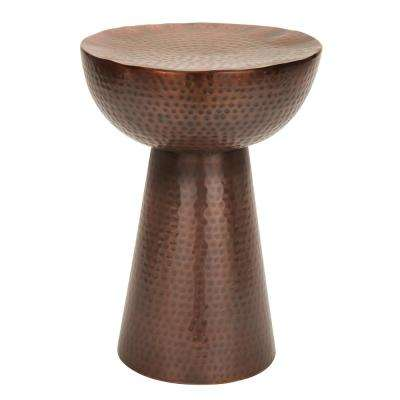 Hammered Copper End Table
