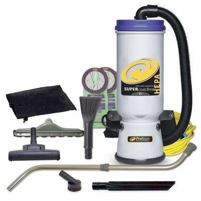 Super CoachVac HEPA 10 Qt. Backpack Vac with Residential Cleaning Service Kit