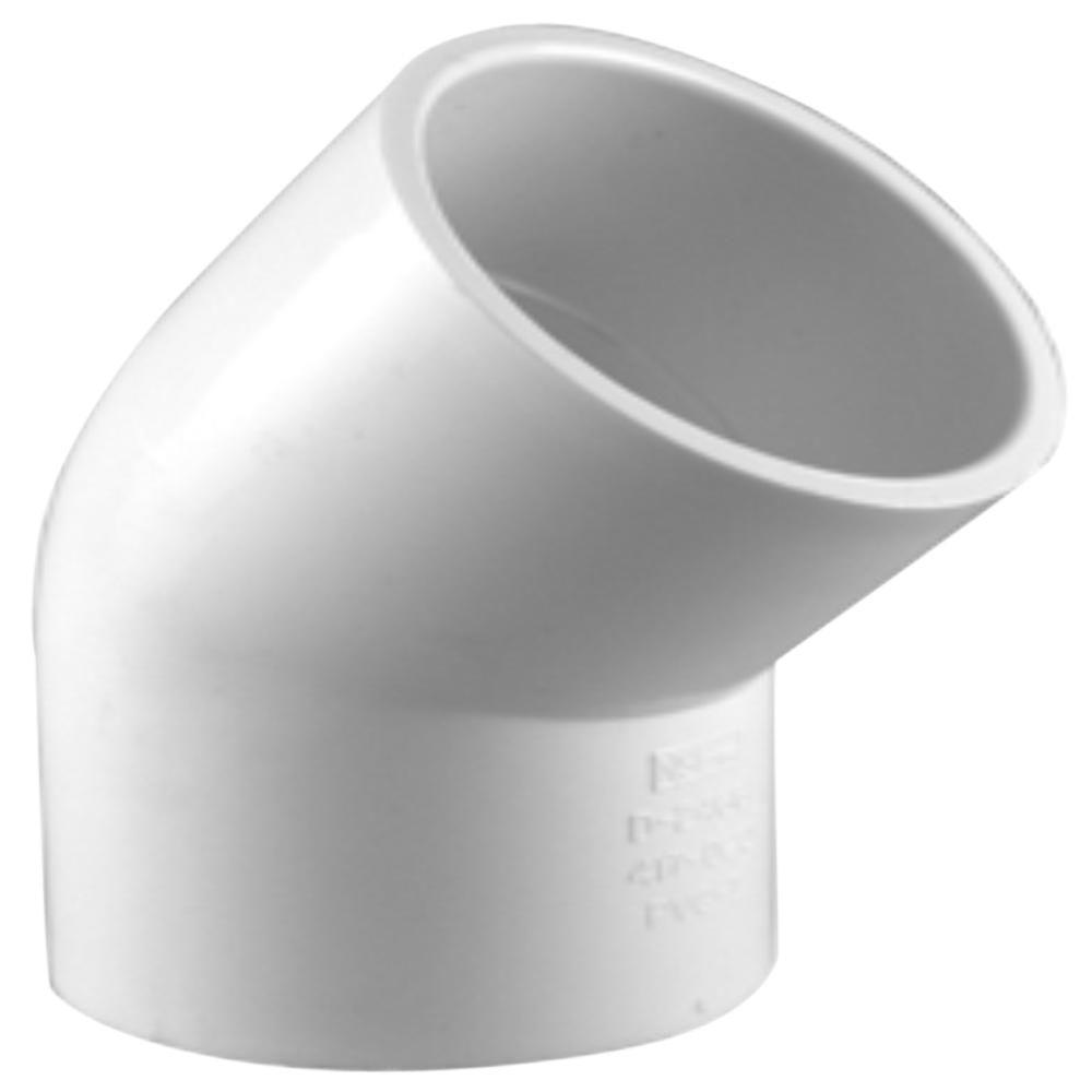 Charlotte Pipe 2 In Pvc Schedule 40 45 Degree S X S Elbow Fitting Pvc023091600hd The Home Depot