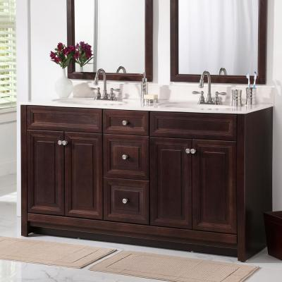 Brinkhill 60 in. W x 34 in. H x 22 in. D Bathroom Vanity Cabinet in Chocolate