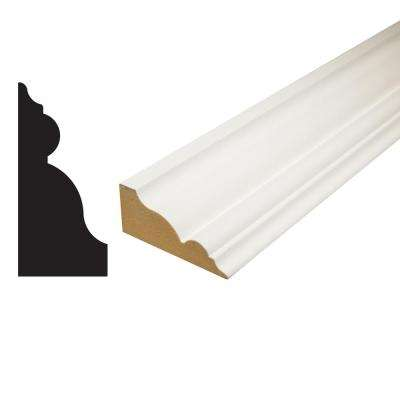 1-1/4 in. x 2-3/4 in. x 96 in. Primed MDF Crown Moulding