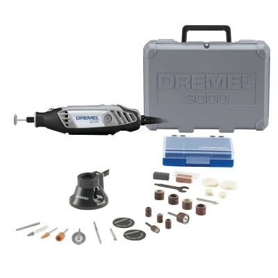 3000 Series 1.2 Amp Variable Speed Corded Rotary Tool Kit with 25 Accessories and Carrying Case
