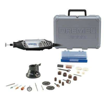 3000 Series 1.2 Amp Variable Speed Corded Rotary Tool Kit with 28 Accessories and Carrying Case