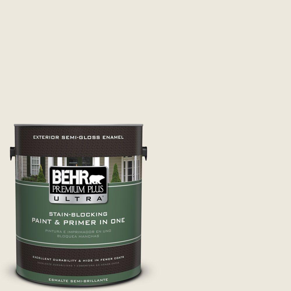 1 gal. #HDC-SM16-01 Dried Coconut Semi-Gloss Enamel Exterior Paint