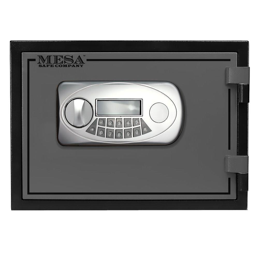 MESA 0.4 cu. ft. U.L. Classified All Steel Fire Safe with Electronic Lock in 2-Tone, Black and Grey
