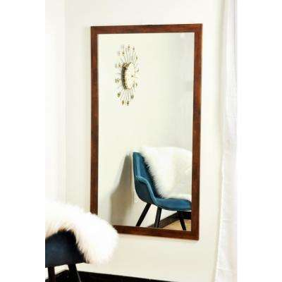 Modern Rectangle Mocha Brown Wall Mirror