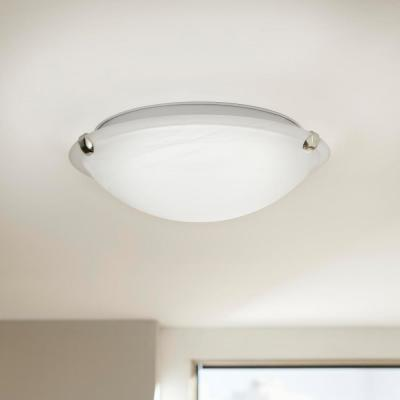 12 in. Pewter LED Clip Flush Mount