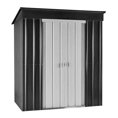 Skillion 6 ft. x 4 ft. Anthracite Gray Metal Shed