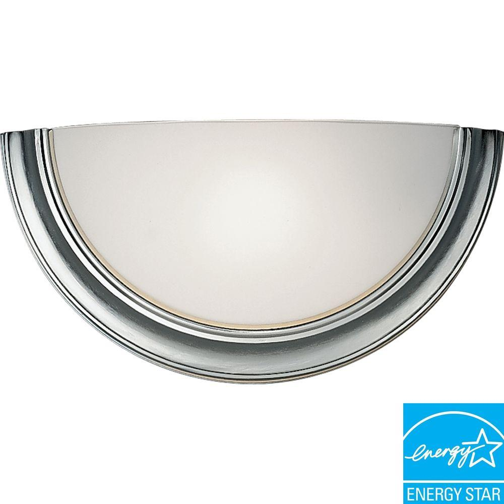Progress Lighting Eclipse Collection Brushed Steel 1-Light Wall Sconce-DISCONTINUED