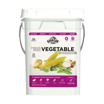 Freeze Dried Vegetable Variety Pail Emergency Food Supply 6 Varieties 30-Year Shelf Life