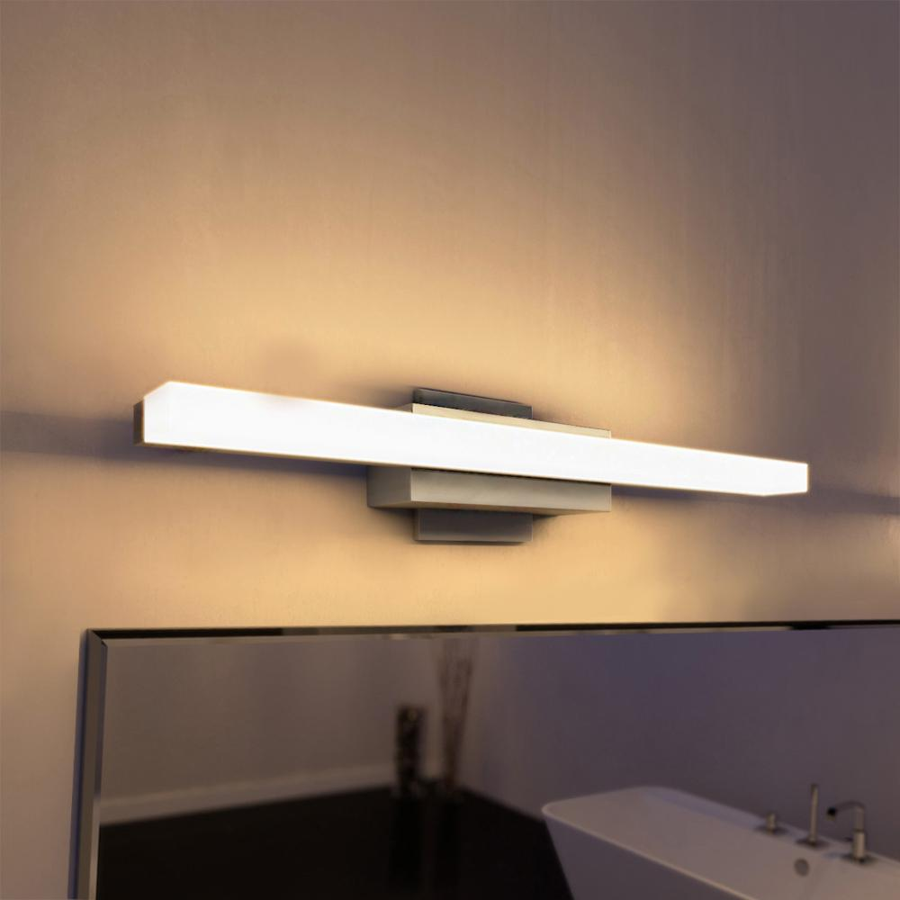VONN Lighting Procyon Collection 23 In. Silver/Nickel Low Profile Modern LED  Bathroom And