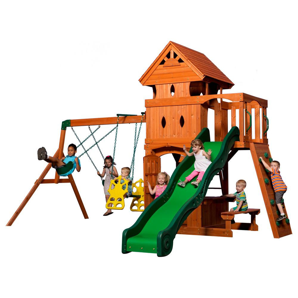 backyard discovery monterey all cedar playset 6012com the home depot