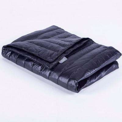 Black Nylon Waterproof White Goose Down Indoor/Outdoor Camping Blanket