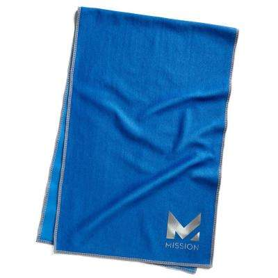 Hydro Active Max 11 in. x 33 in. Cobalt Blue and Silver Cooling Towel