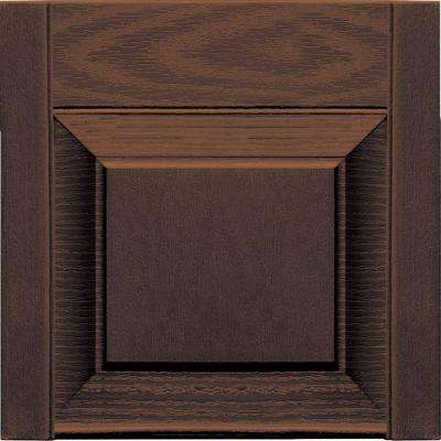 15 in. x 12 in. Federal Brown Transom Tops Pair #009