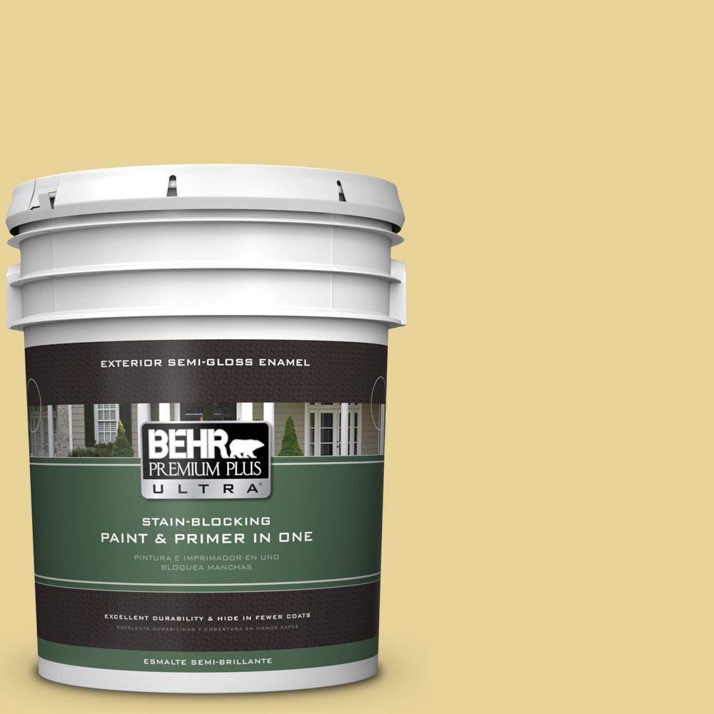 BEHR Premium Plus Ultra 5-gal. #390D-4 Honey Beige Semi-Gloss Enamel Exterior Paint