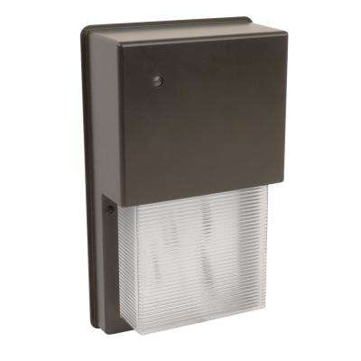 20.7-Watt 6 in. Bronze Daylight (5000k) Outdoor Integrated LED Security Wall Pack Light with Dusk to Dawn Sensor