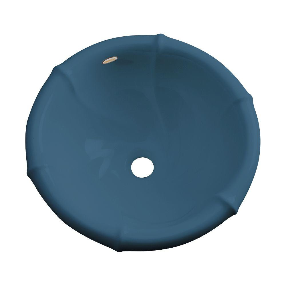 null Waverly Drop-In Bathroom Sink in Rhapsody Blue