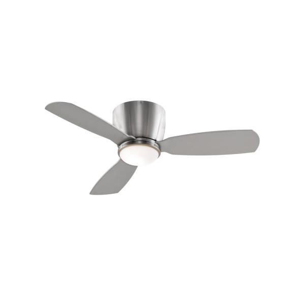 Embrace 44 in. Integrated LED Brushed Nickel Ceiling Fan with Opal Frosted Glass Light Kit and Remote Control